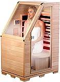 newgen medicals Sauna: Kompakte Infrarot-Sitzsauna aus Hemlock-Holz, 760 W, 0,62 m² (Sitzsauna für...