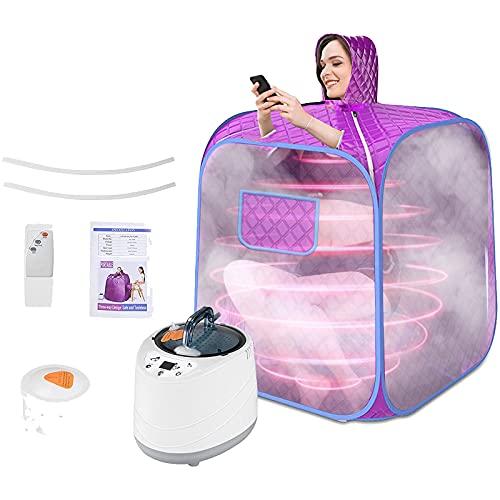 Sauna für zuhause, S SMAUTOP Persönlicher Saunadampfer Spa Maschine Saunazelt Home Spa Ganzkörper Entspannungs und Gesichts mit 9 Feilen Temperaturanpassung für die Gewichtsverlust Entgiftungstherapie