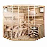 Home Deluxe - Traditionelle Sauna - Skyline XL Big - Holz: Hemlocktanne - Maße: 200 x 200 x 210 cm - inkl. komplettem Zubehör | Dampfsauna Aufgusssauna Finnische Sauna