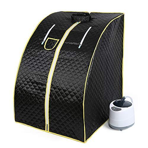1000W, dampfsauna, mobile sauna, Heimsauna, Passen Sie die Temperatur an, fördern Sie die Durchblutung, halten Sie den Körper gesund (schwarz)