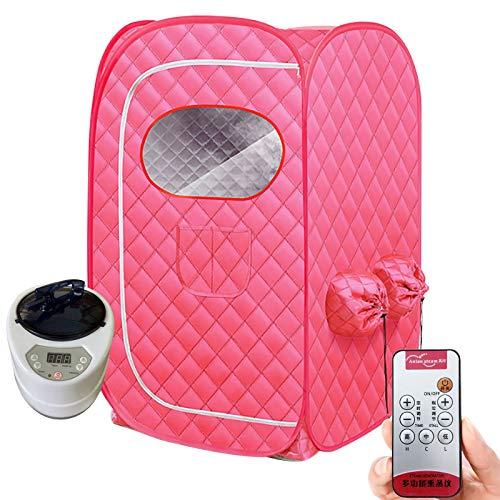 Mobile Mini Dampfsauna Heimsauna Sitzsauna Saunakabine Wärmekabine 1000W Faltbare Persönliche Saunakabine, Badezimmerzelt, Einschließlich Fernbedienung