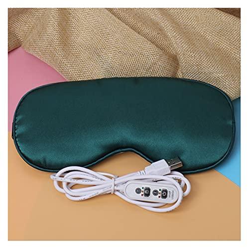 Sauna Beheizte Augenmaske zum Schlafen USB Lavendel beheizte Augenmaske Warm Dampf Trockene Augenmaske Elektrische Temperatur Heizung Heiße Augenmaske Tragbare Dampfsauna (Color : Dark Green)