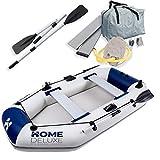 Home Deluxe - Schlauchboot Small - Material: strapazierfähiges PVC- Maße: LxB ca. 230 x 128 cm - für bis zu 3 Personen   Beiboot, Motorboot, Ruderboot